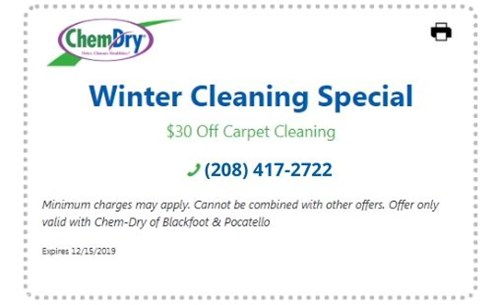 $30 Off Carpet Cleaning Coupon